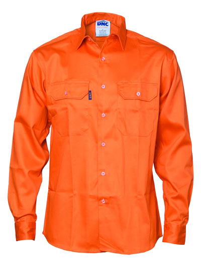 3402 Patron Saint Flame Retardant Drill Shirt, Long Sleeve