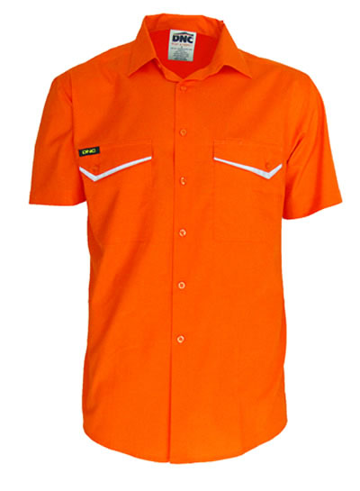 3583 HiVis RipStop Cotton Cool Shirt Short Sleeve