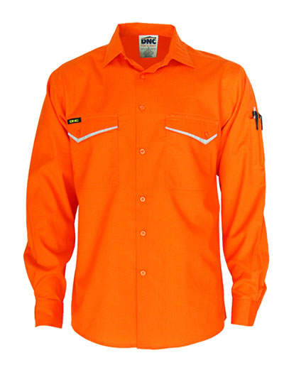 3584 HiVis RipStop Cotton Cool Shirt Long Sleeve