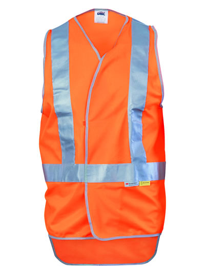 3802 Day/Night Cross Back Safety Vests with Tail