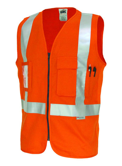 3810 Day/Night Cross Back Cotton Safety Vests