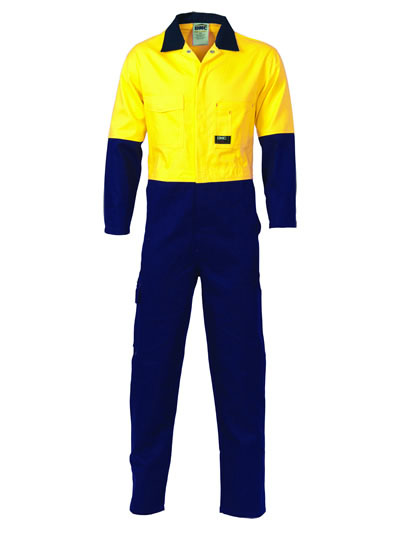 3851 Hi Vis Two Tone Cotton Coverall