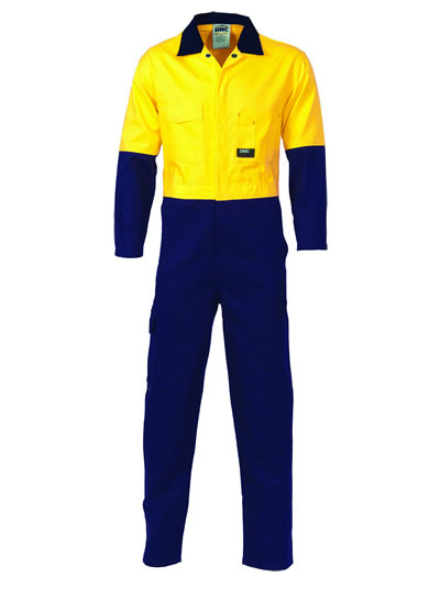 3852 Hi Vis Cool-Breeze Two Tone LightWeight Cotton Coverall