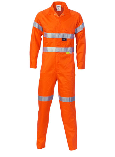 3854 Hi Vis Cotton Coverall with 3M R/Tape