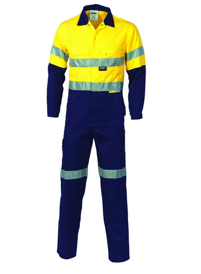 3855 Hi Vis Two Tone Cotton Coverall with 3M R/Tape