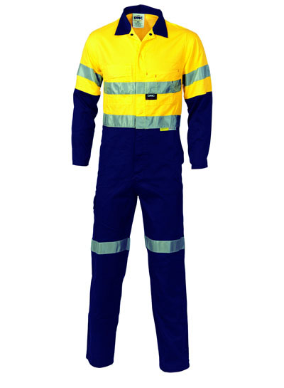 3955 Hi Vis Cool-Breeze Two Tone Lightweight Cotton Coverall with 3M R/Tape