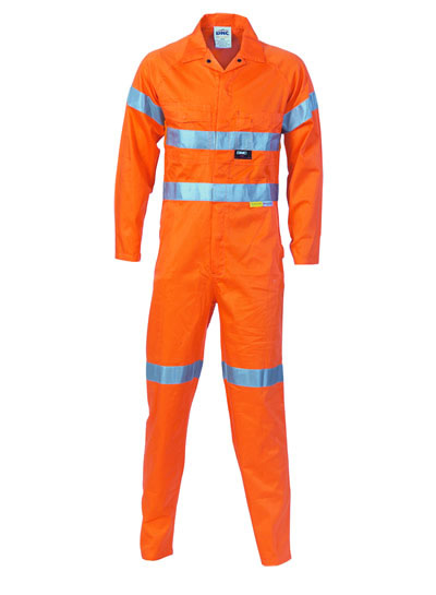 3956 Hi Vis Cool-Breeze Orange Lightweight Cotton Coverall with 3M R/Tape