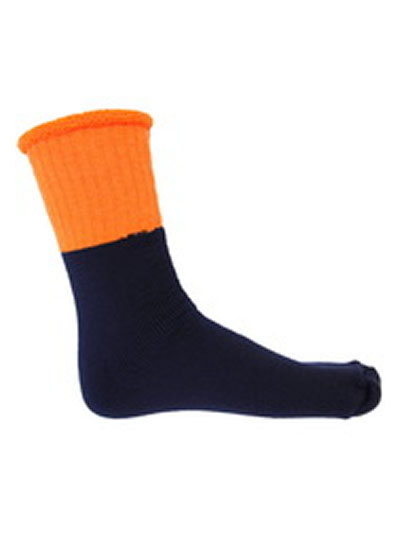 S105 Hi Vis Two Tone Premium Woolen Socks - 3 Pack