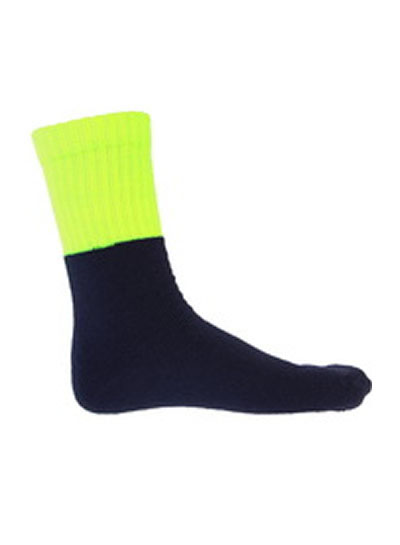 S123 Hi Vis Two Tone Acylic 3 Pack Work Socks